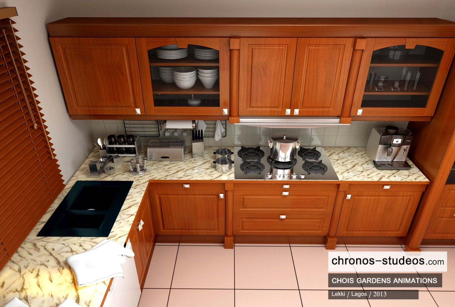 3d visualization by chronos studeos chois gardens lekki in lagos nigeria architecture design kitchen