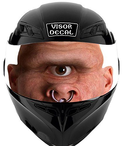 V Cyclops VISOR TINT DECAL Graphic Sticker Helmet Motorcycle - Custom motorcycle helmet stickers and decalssimpson motorcycle helmets