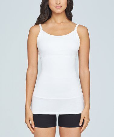 424797a77d This White Laurel Three-Panel Shaper Nursing Tank is perfect!  zulilyfinds