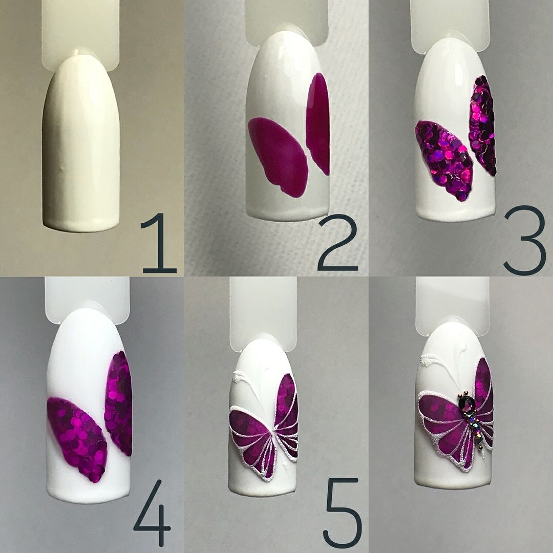 Pin by Inessa Loongoo on Nails step by step Rose nail art, N