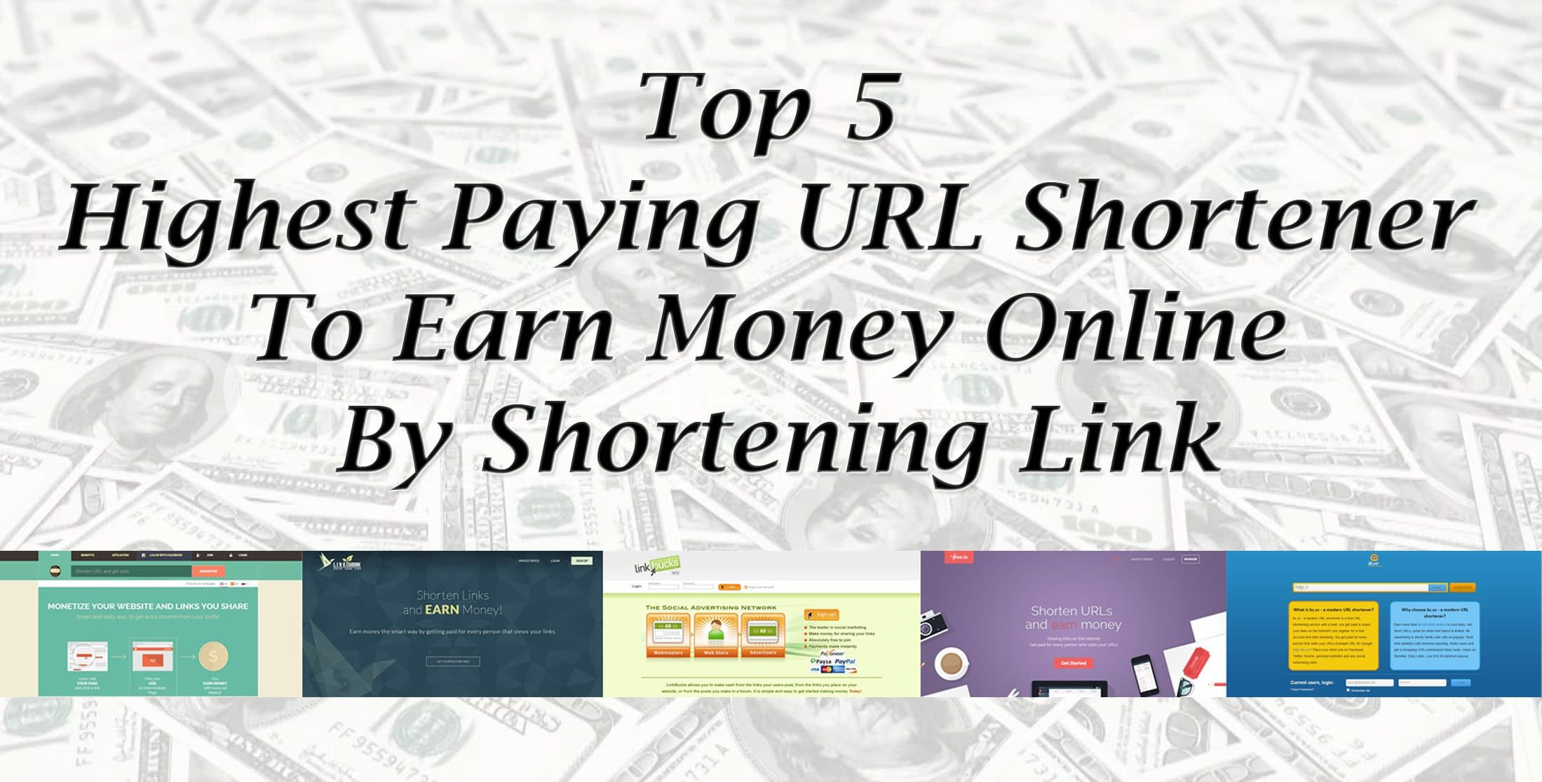 All given information about top 10 money earning apps for