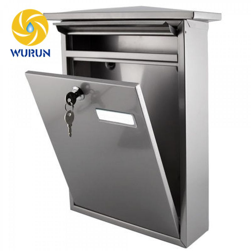 Oem Odm Custom Made Outdoor Apartment Metal Steel Stainless Steel Post Wall Mounted Mailbox Wall Mount Mailbox Mounted Mailbox Stainless Steel Mailbox