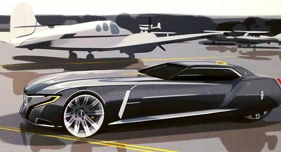 Jae Han Song 2023 Lincoln Continental Coupe Concept Cool Sketch