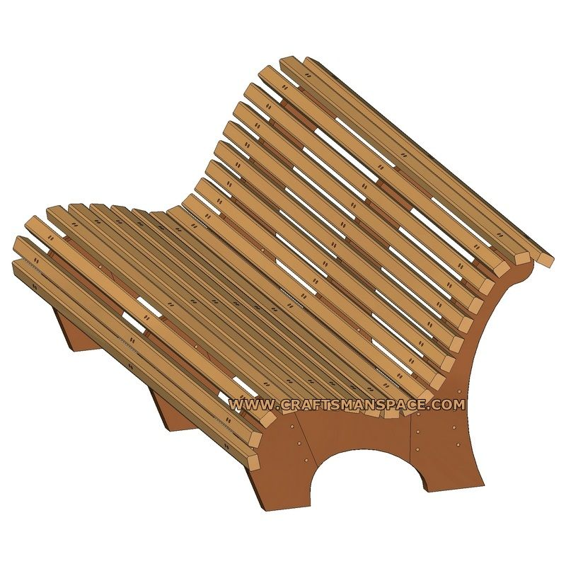 Contoured Park Bench Plan Wooden Park Bench Woodworking Bench Plans Bench Plans
