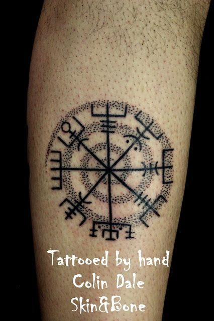 Ancient Viking Tattoos The Vejviser Or Viking Compass To Keep Lars