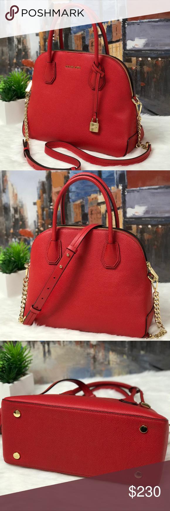 2624cead1c2b ️Michael Kors Mercer Large Dome Satchel Glamorous Handbag DETAILS • 100%  Full
