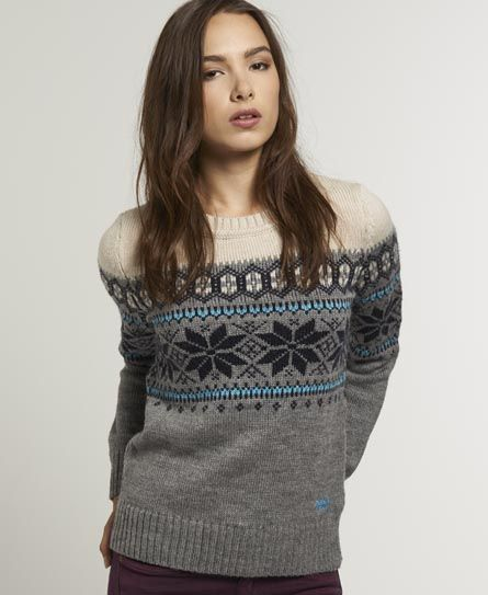 Superdry women's Whistler Fairisle crew neck knit. A classic ...