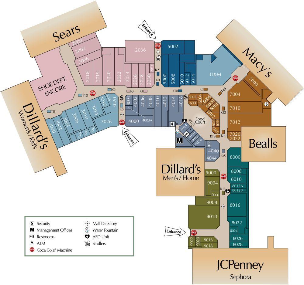 Post Oak Mall Shopping Plan