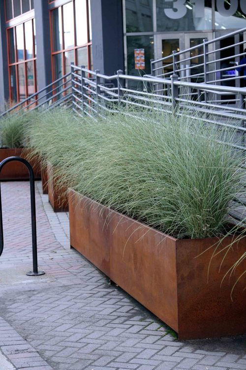 Falchi Perkins Eastman Metropolitan Planter Corten Steel ogród i - jardineras modernas