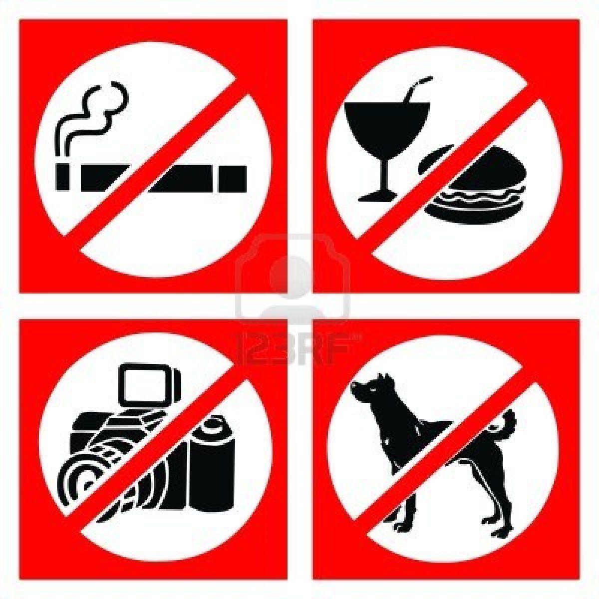 Qu forma de comunicacin es ms importante la verbal o la no set of prohibit sign include no smoking no eating or drinking no photo and no dog stock photo buycottarizona Image collections