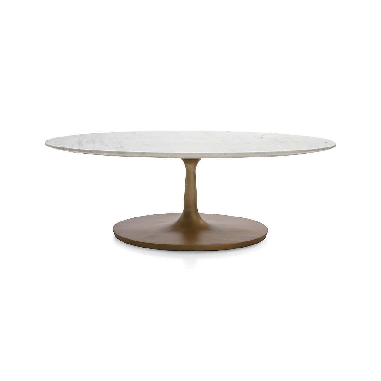 Nero white marble oval coffee table reviews crate and