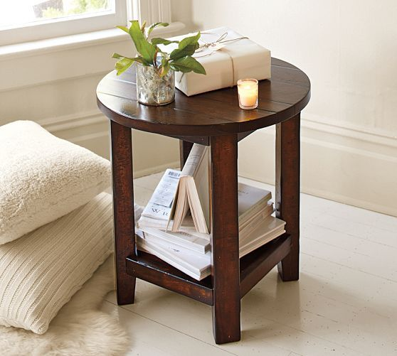 Best Benchwright Round End Table Rustic Side Table Round 640 x 480