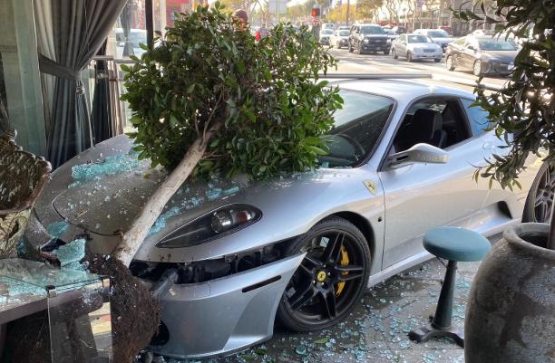 Celebrity News 1 Hospitalized After Ferrari Crashes Into West Hollywood Restaurant Pump 8211 Ktl In 2020 West Hollywood Restaurants Hollywood Restaurants Ferrari