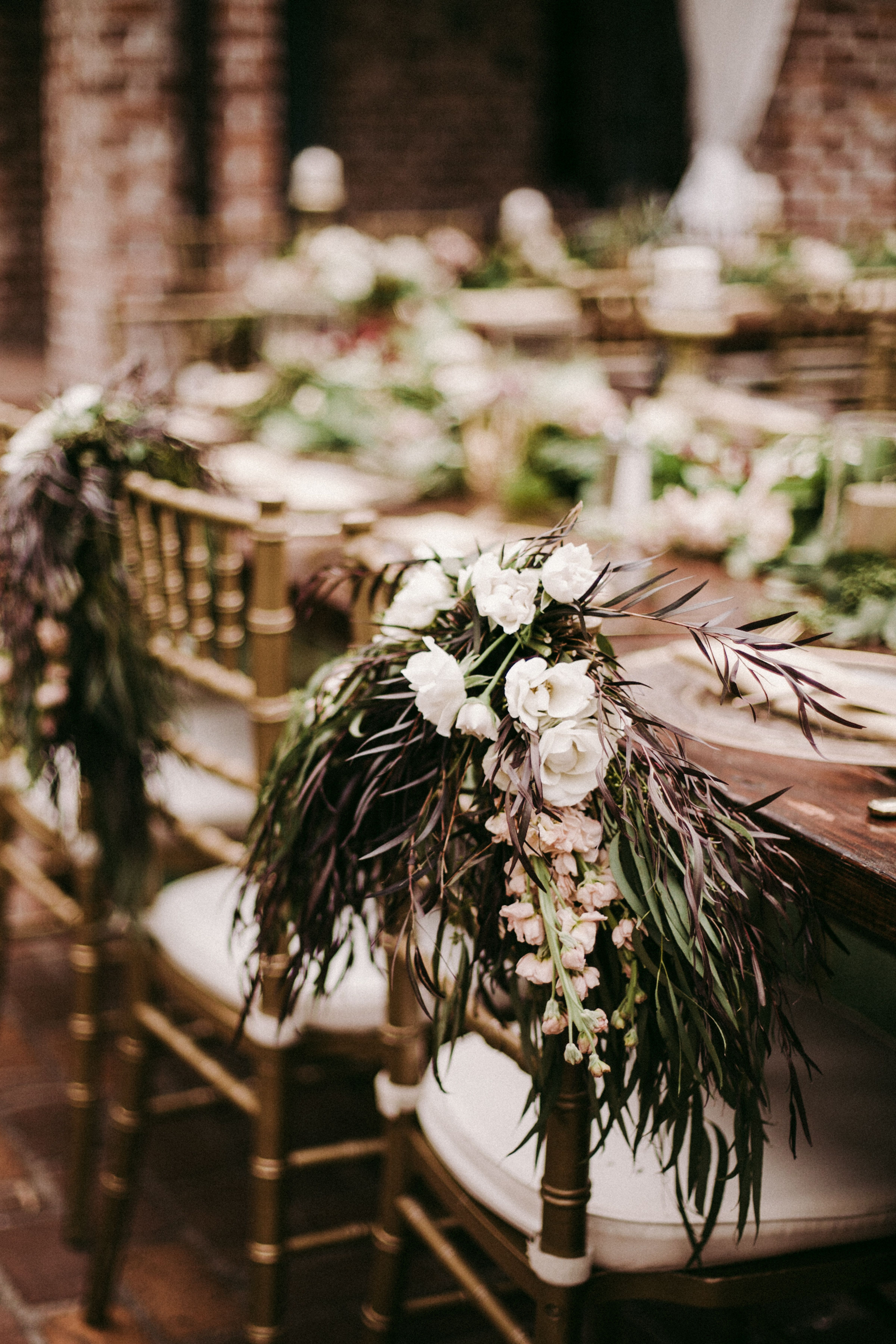 Gold Chavari Bride And Groom Chairs Are Dressed With Loose And Wild