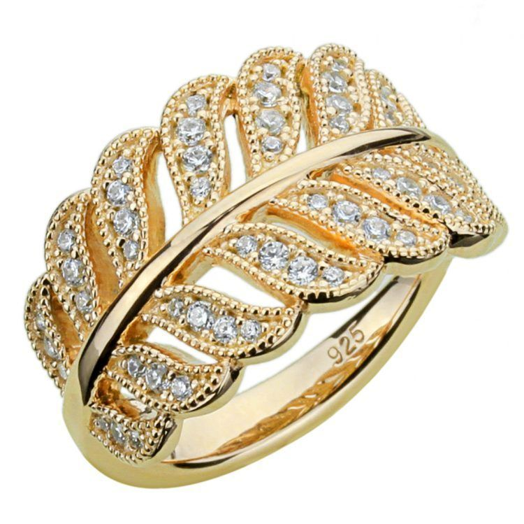 Korean Wedding Ring Design Cubic Zirconia