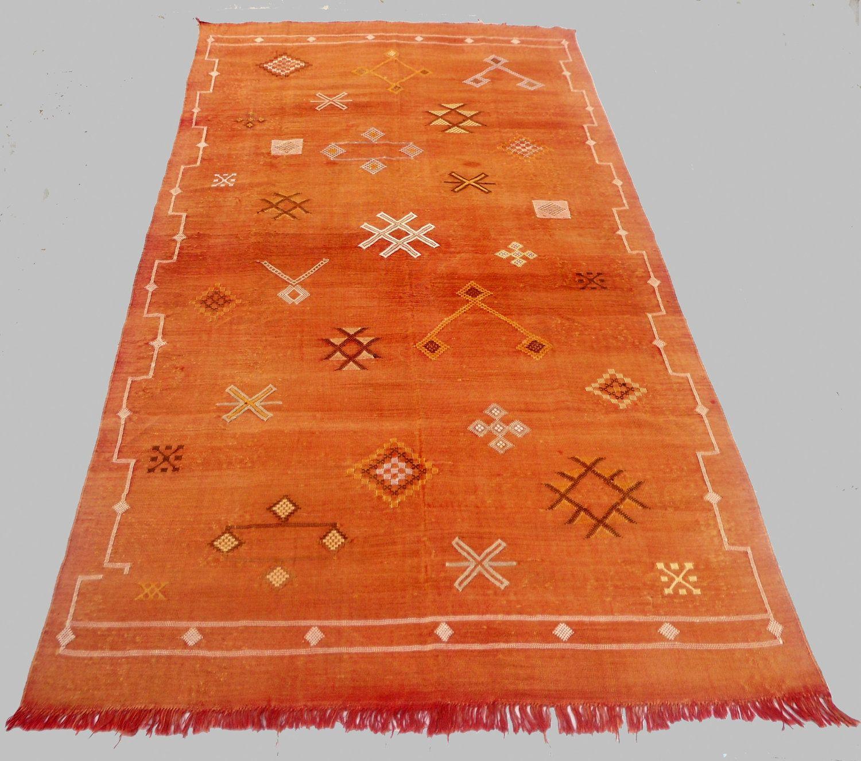 Best Beautiful Brown Large Moroccan Cactus Silk Sabra Rug 400 x 300