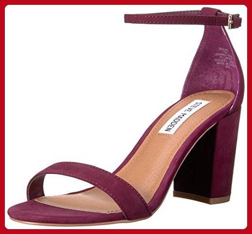 82153043ff0 Steve Madden Women's Declair Dress Sandal, Burgundy Nubuck, 5.5 M US ...
