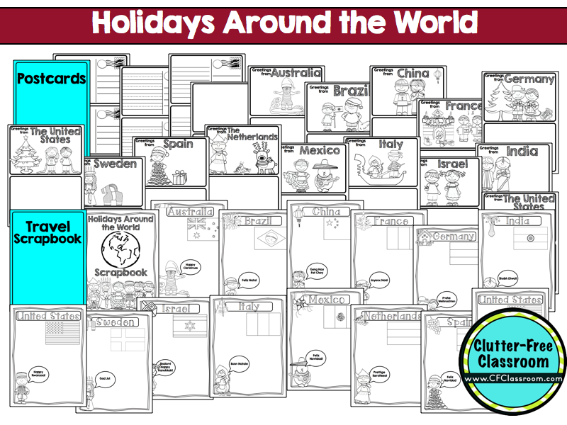 Clutter-Free Classroom: Holidays Around the World {Christmas ...