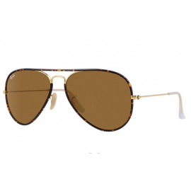 3d13eb151c Ray Ban Aviator Full Color RB3025 sunglasses – Tortoise  Gold Frame   Brown  Classic B-15 Lens