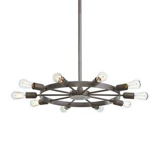 Spiraled Wheel Pendant Light