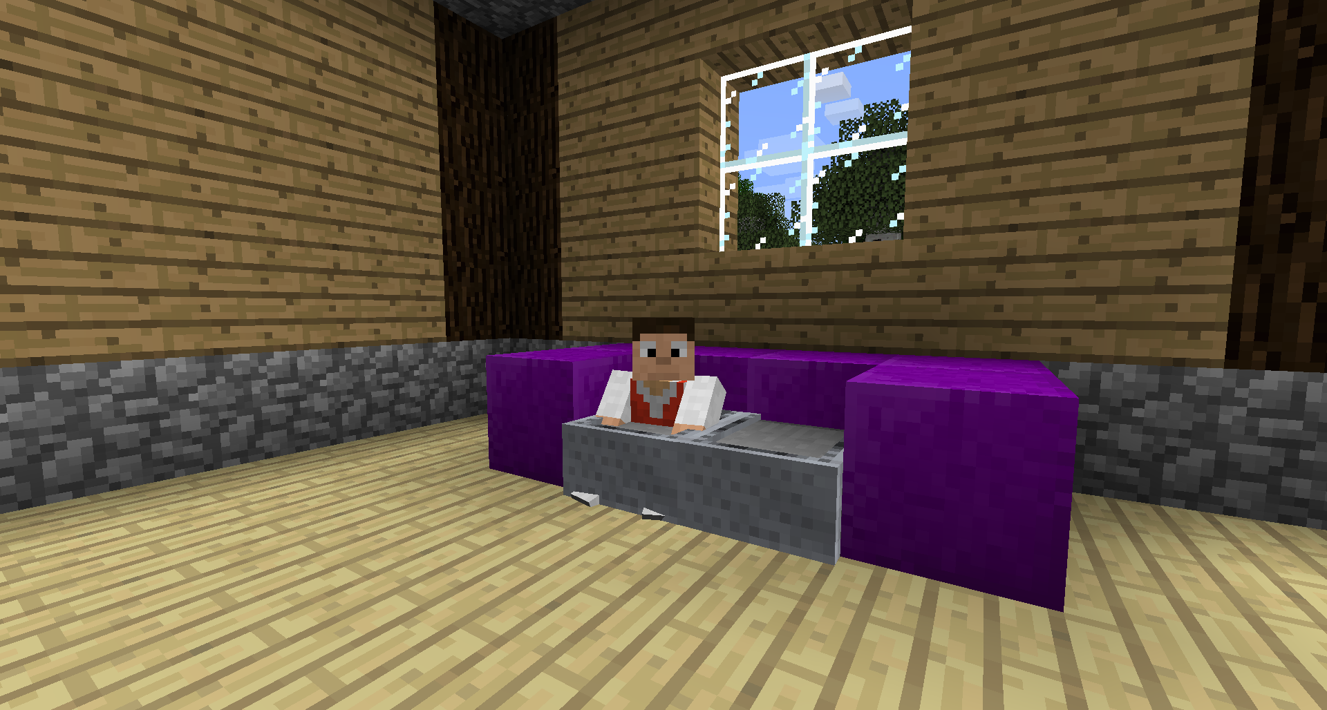 How To Make A Working Chair In Minecraft Minecraft What To Build Work Chair How To Make Sofa