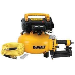 Dewalt 6 Gal Heavy Duty Air Compressor Combo Kit Dw1kit18pp The Home Depot Combo Kit Electric Air Compressor Dewalt