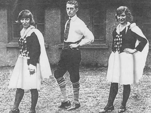 Rita Hemsworth, Molly Hasso and Cormac O'Keeffe Class Costume, 1920-1939