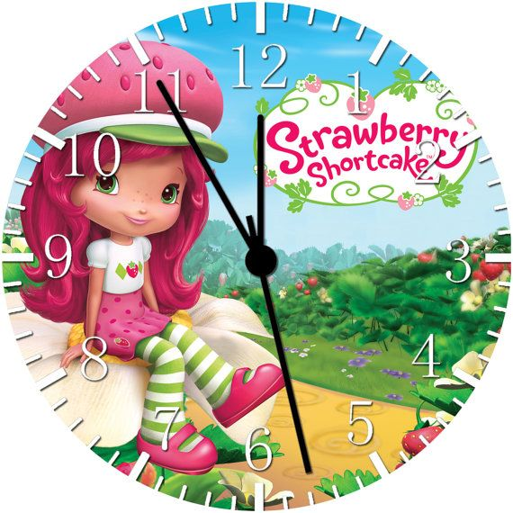 "Strawberry Shortcake Bedroom Decor: Strawberry Shortcake Wall Clock 10"" Room Decor W98"