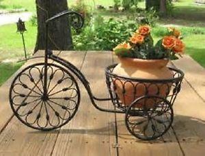 Good Nostalgic Bicycle Home Garden Decor Iron Plant Stand Vintage Pot Holder  Patio