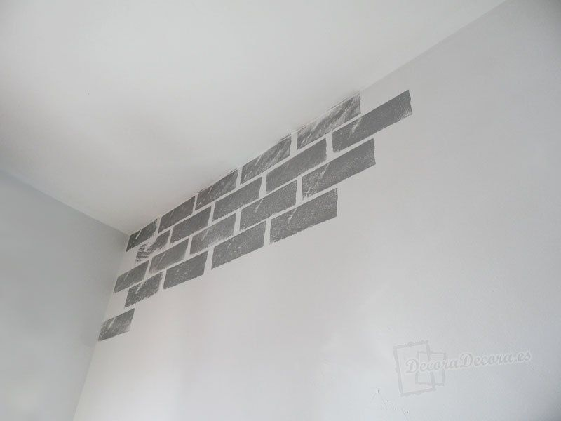 Decorar la pared pintando ladrillos pared ladrillos for Paredes artisticas
