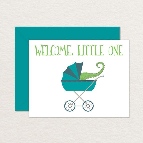 Welcome Baby Card Funny Baby Card Printable By Brainooli