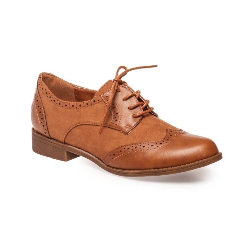19cddb5967cb64 Derbies bi-matière camel in 2019 | Chose your shoes | Chaussures ...