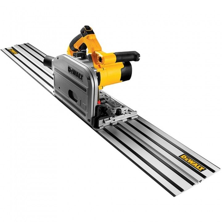 Dewalt Heavy Duty 6 1 2 Track Saw Kit With 59 Track Dws520sk Woodworking Saws Woodworking Tools Circular Saw