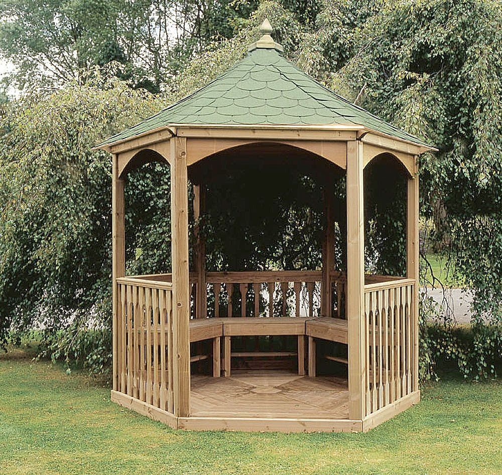 Gazebo Wooden Minimalist Design Exteriorhome Designs Round Small Patio
