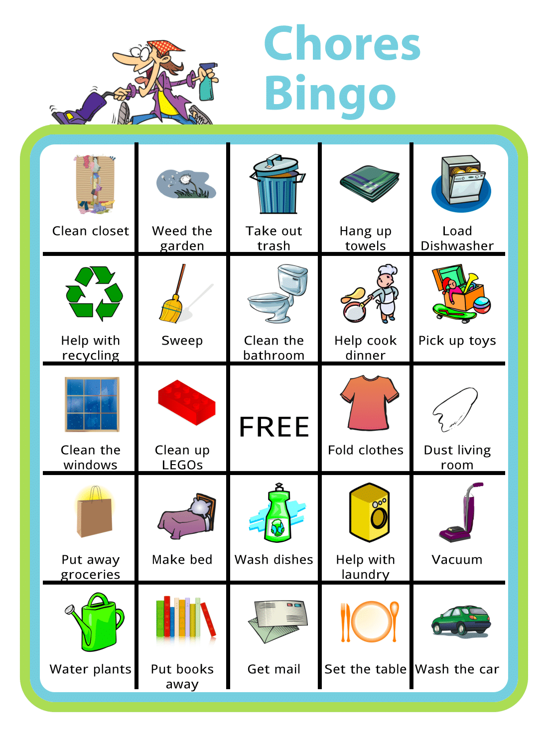 Chores Bingo Is A Great Way To Mix Things Up And Make