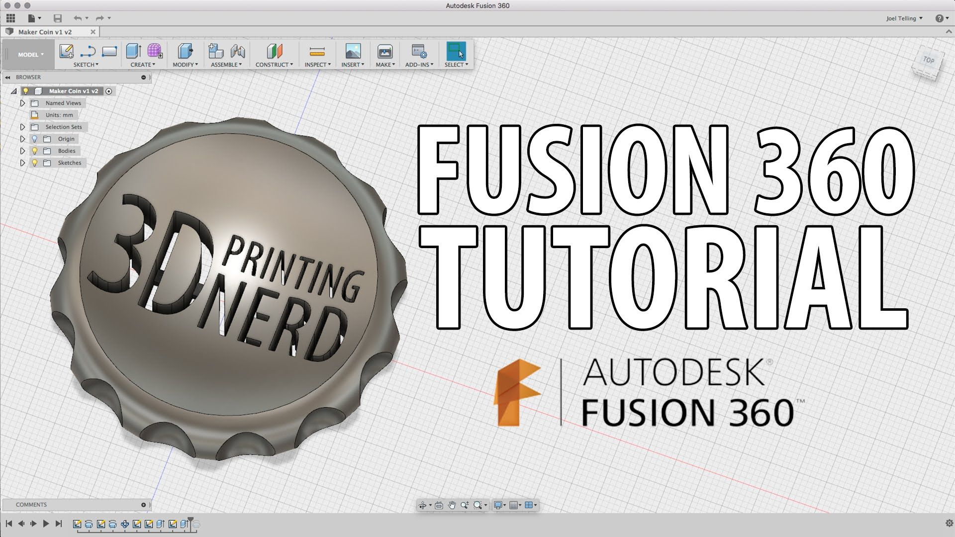 3D Printing: Fusion 360 Beginner Tutorial - Create a Maker