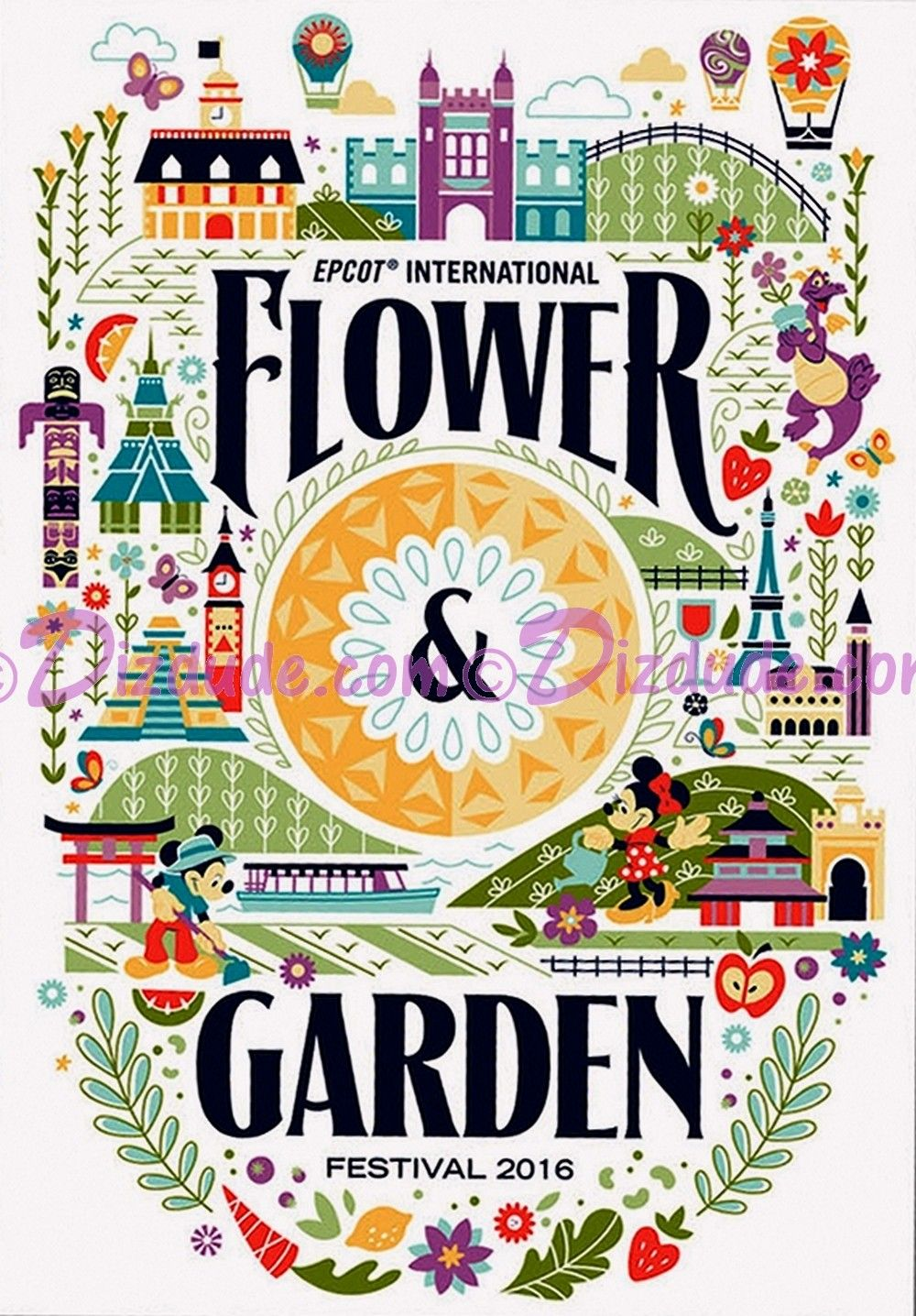 Disney Epcot International Flower Garden Festival 2016 Poster
