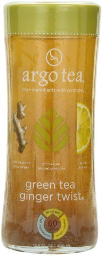 Argo Tea Iced Tea Green Tea Ginger Twist 13 5 Ounce Pack Of 12 Check Out This Great Product Argo Tea Green Tea Iced Tea