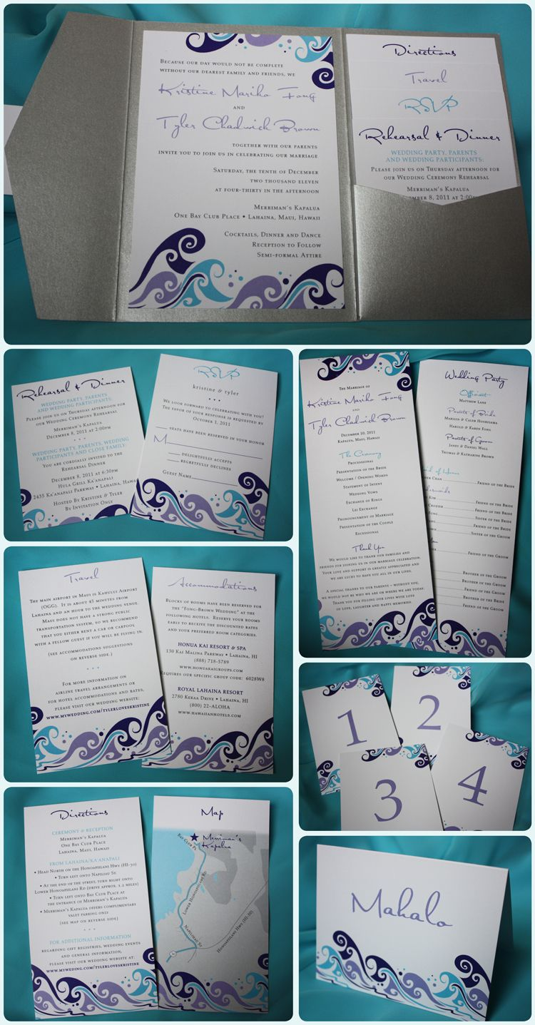 Dark Purple, Light Purple, Dark Gray, Silver And Turquoise Ocean Waves  Beach Themed