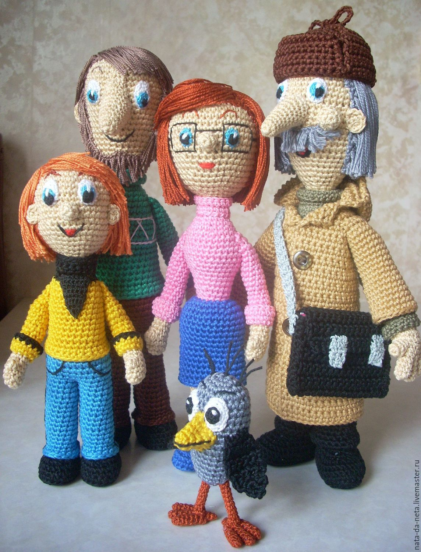 Папа, Мама и сын Фёдор.Семья куклы вязаные игровые ...