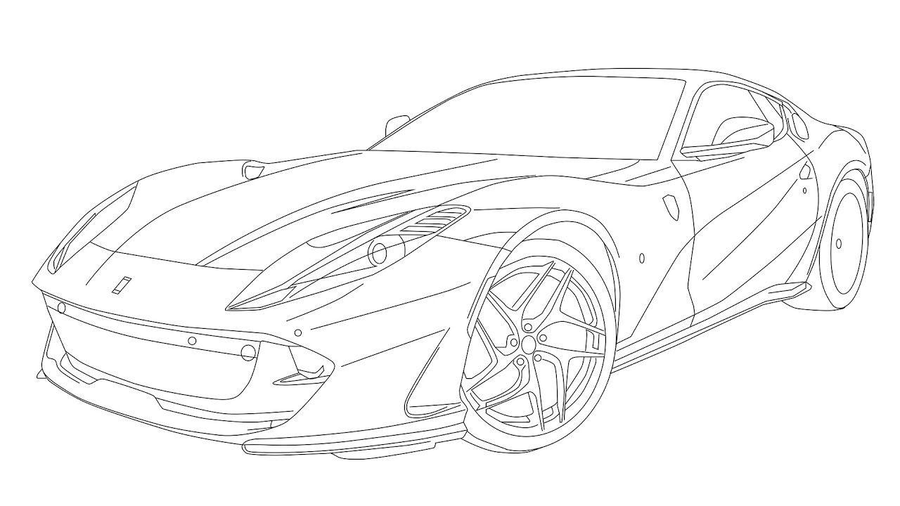 Ferrari 812 Superfast Msrp Digital Drawing Ferrari Drawings
