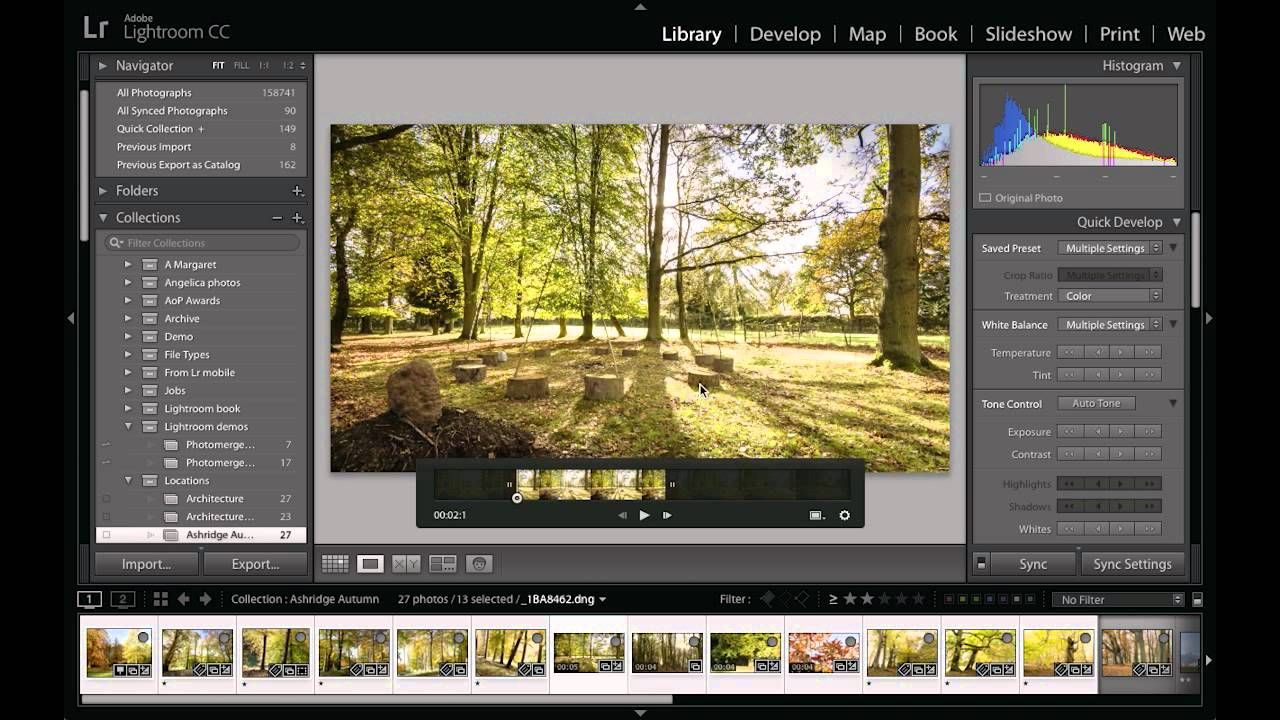 Creating pan and zoom slideshows in Lightroom CC/6