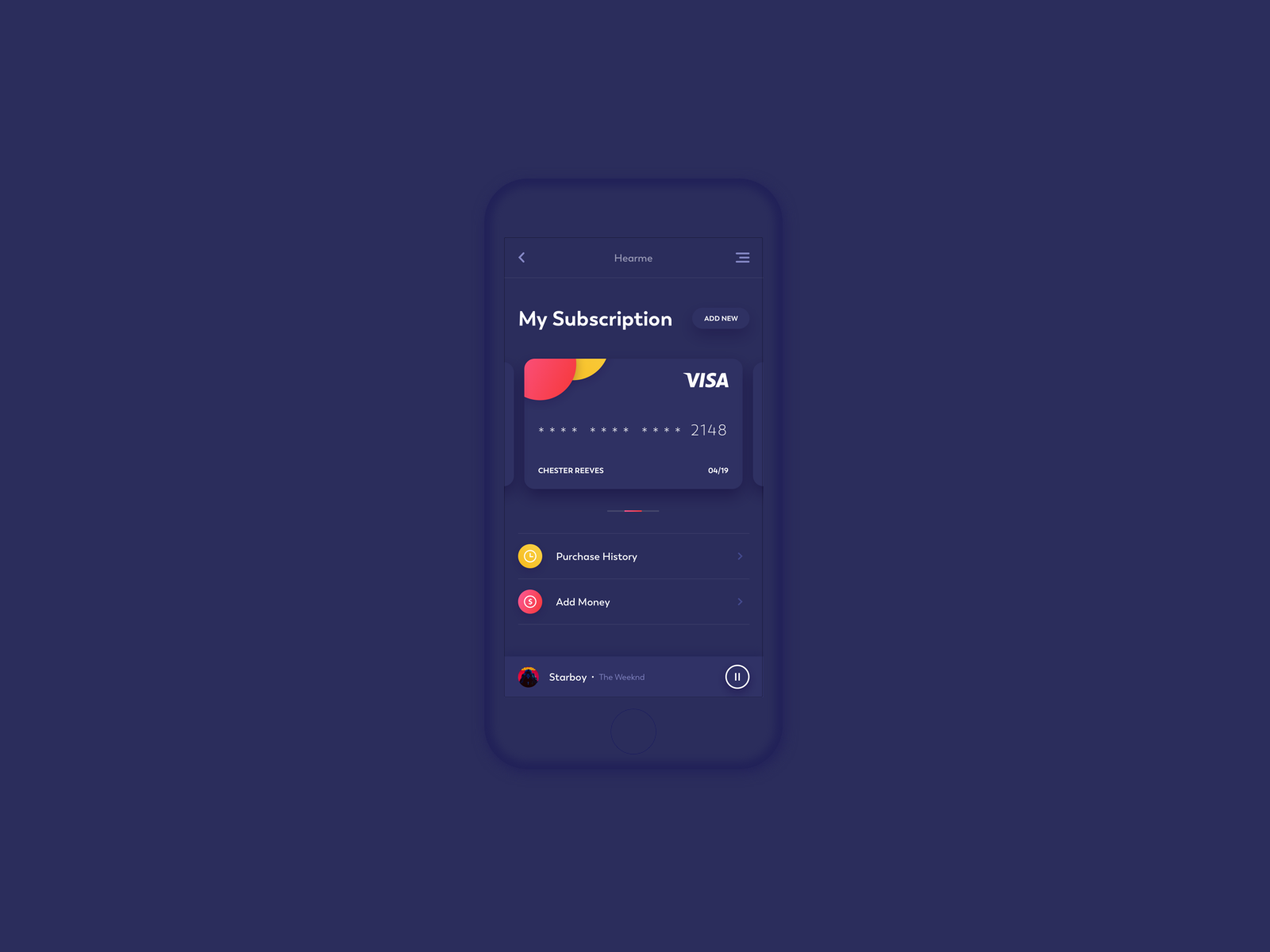 Subscription Screen Screen design, Mobile design, Screen