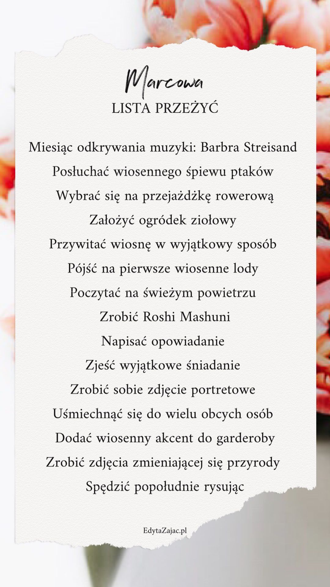 Lista Przezyc Marca Psychologia W Zyciu Edyta Zajac March Bucket List Spring Bucket List To Do List Self Bullet Journal Themes Diy Calendar Bullet Journal
