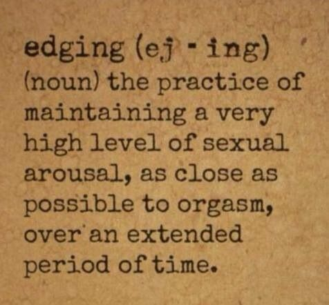 What is edging sex