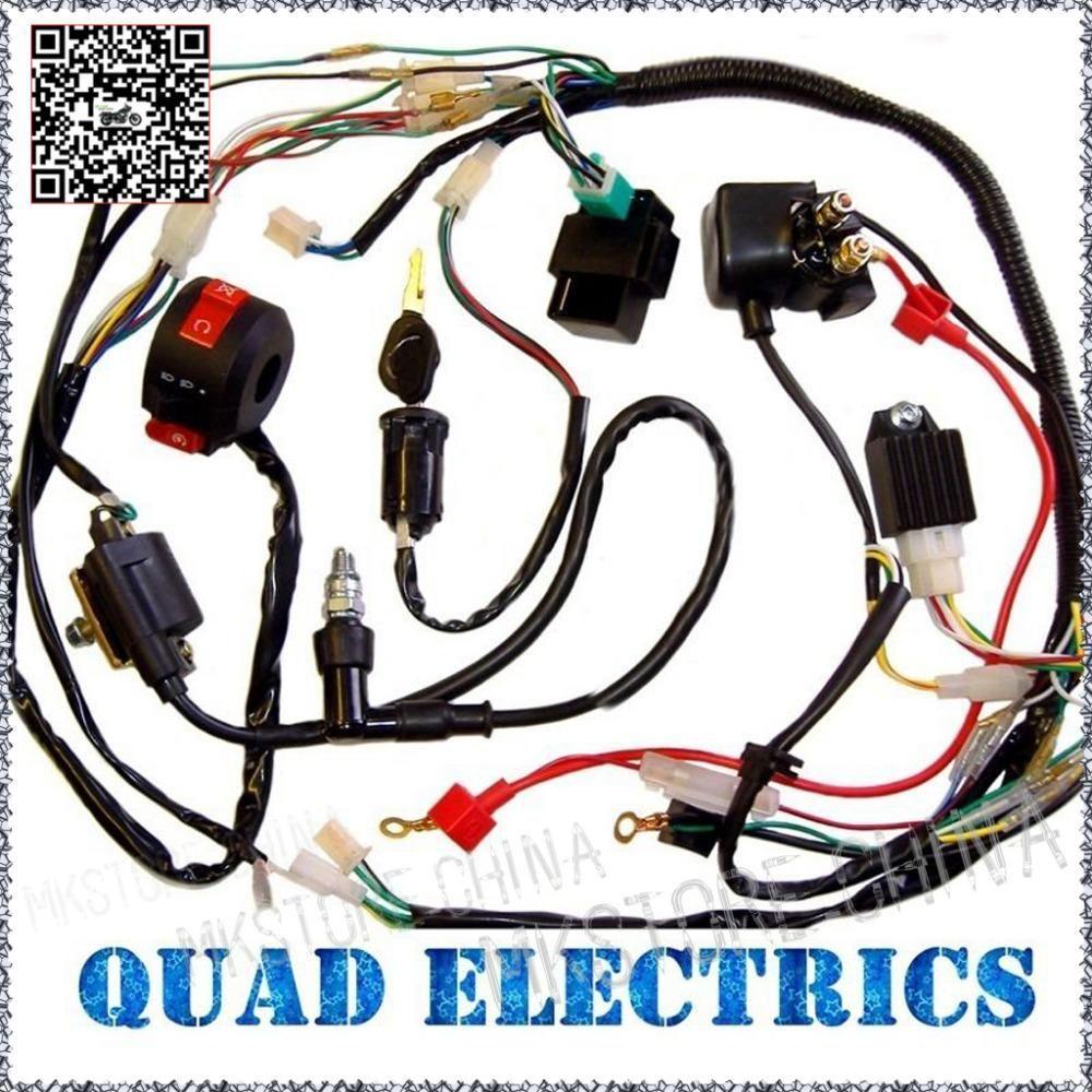 50cc 70cc 110cc 125cc Atv Quad Electric Full Set Parts Wire Cdi Ignition Coil Rely Rectifier Key Function Switch Spark Plug Atv Quads Atv Parts Quad Parts