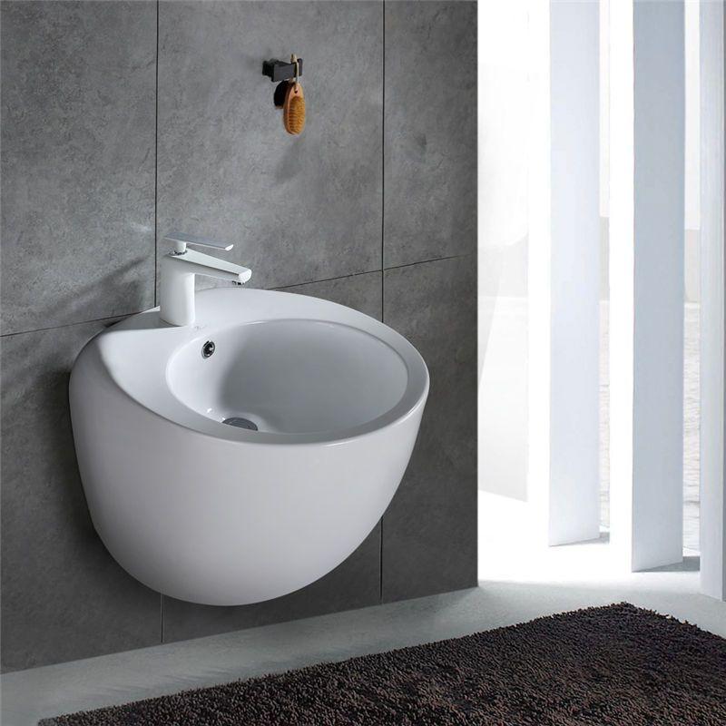 Design Waschbecken Keramik Waschtisch Uberlauf Waschplatz Aufsatz