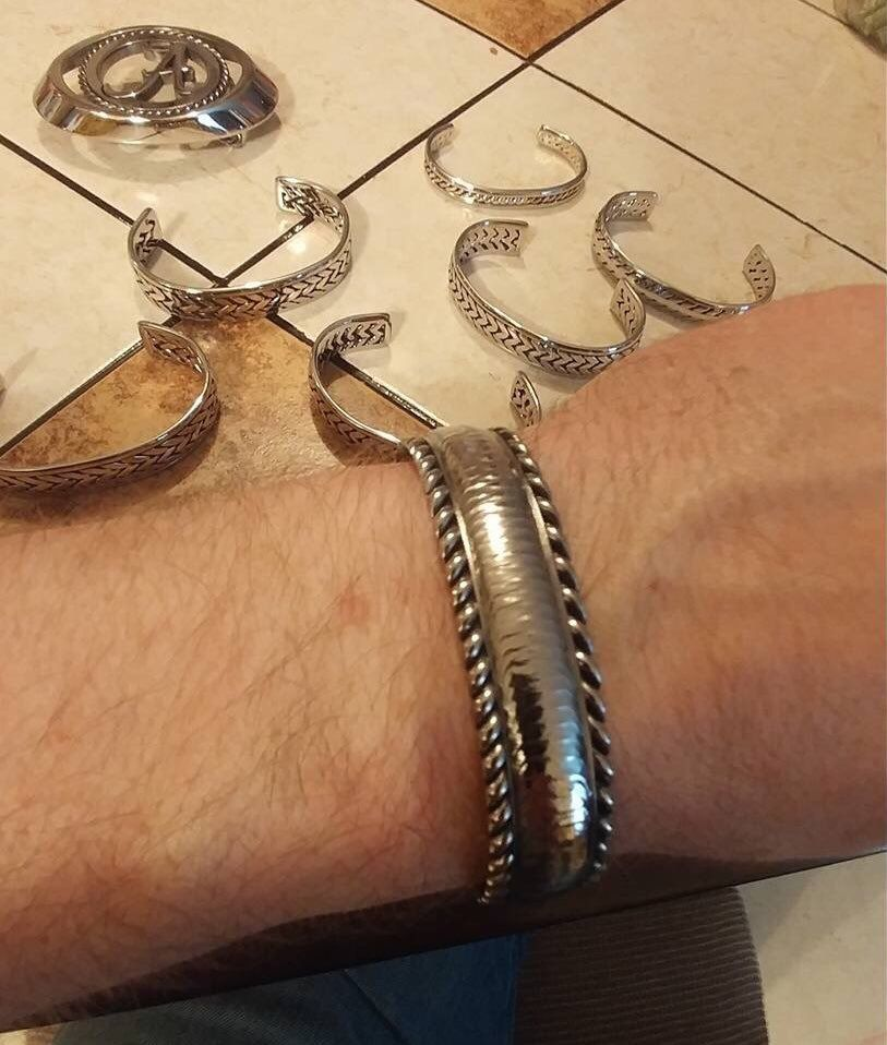 Men's handcrafted weld bead bracelet. Check out our Etsy shop ...