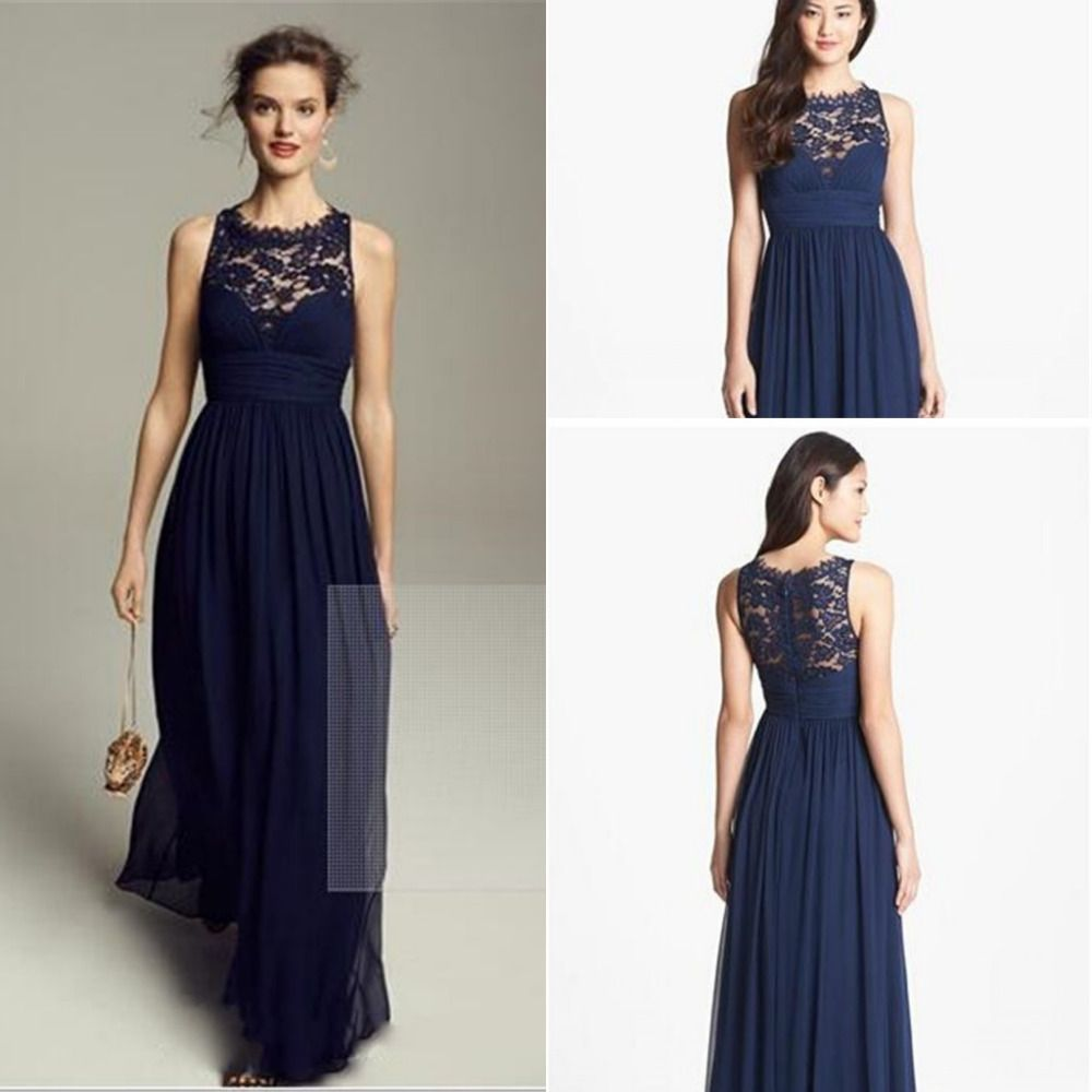 Lace bridesmaids navy blue dresses and blue dresses on pinterest ombrellifo Images