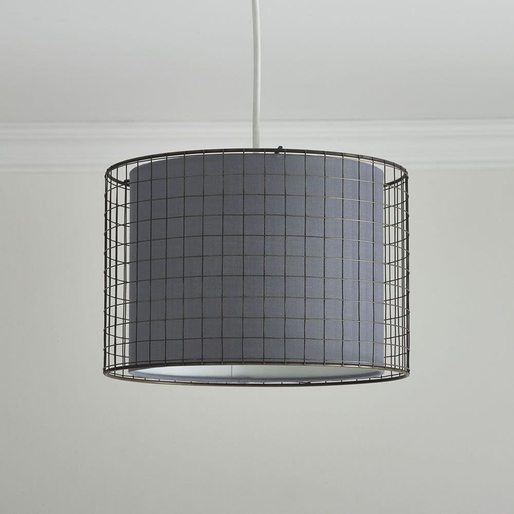 Wire Cage Grey Light Shade Grey Light Shades Wire Pendant Light